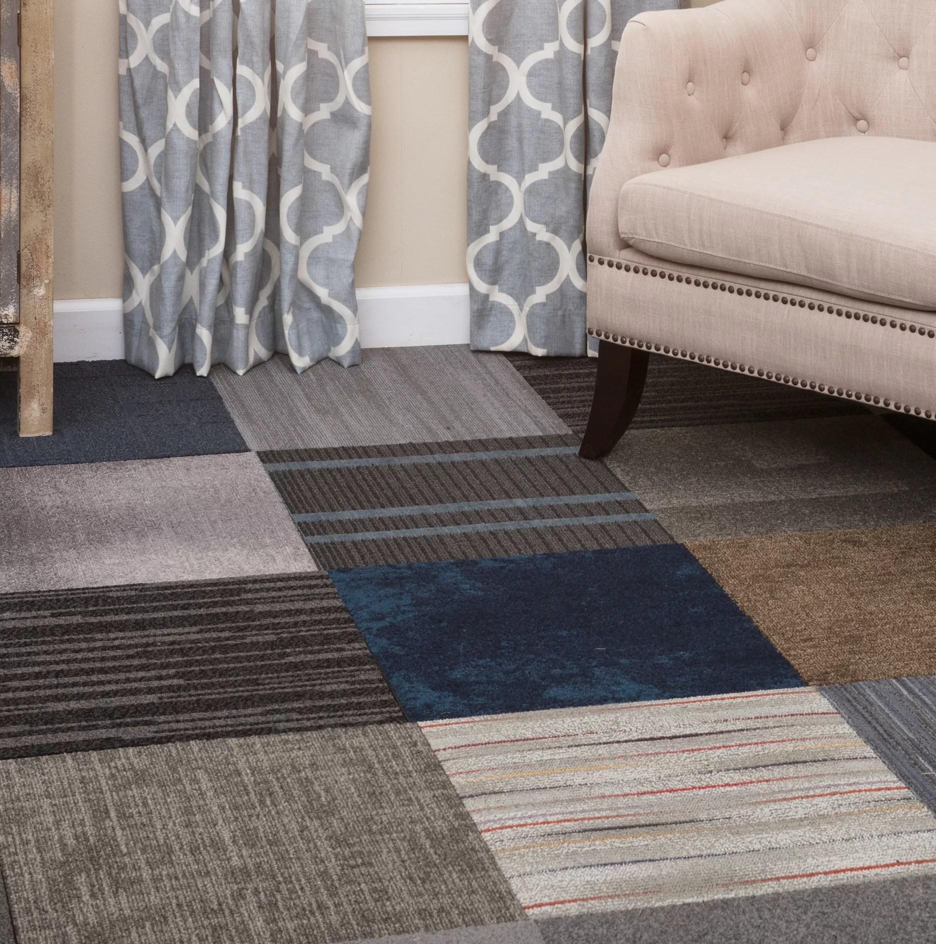 diy 20 x 20 plush cut peel and stick carpet tile