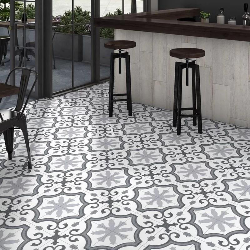 matteo 9 75 x 9 75 porcelain patterned wall floor tile