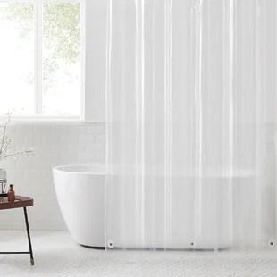 wayfair basics peva shower curtain liner
