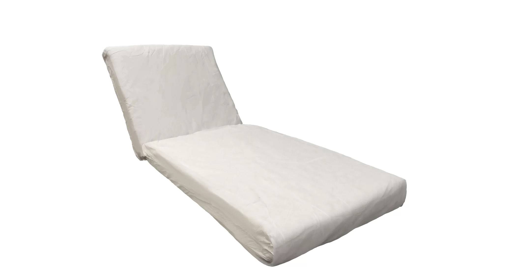 2 piece outdoor chaise lounge cushion set