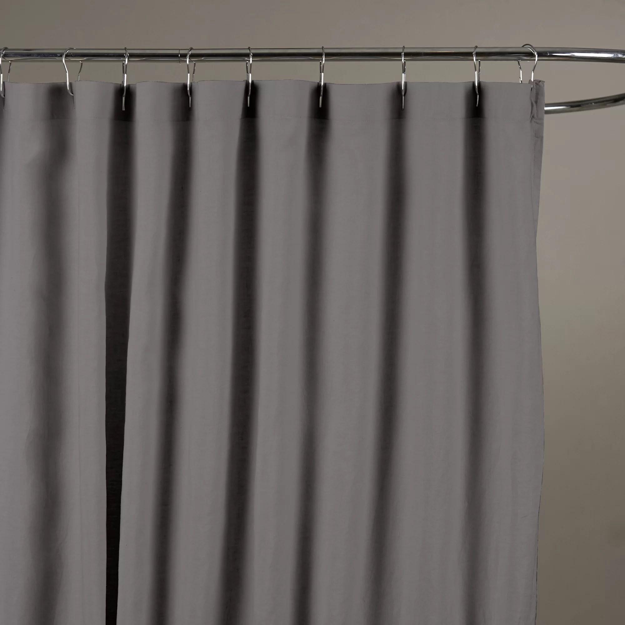 bernadette linen solid color single shower curtain