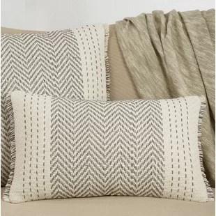 bindera cotton lumbar pillow cover insert