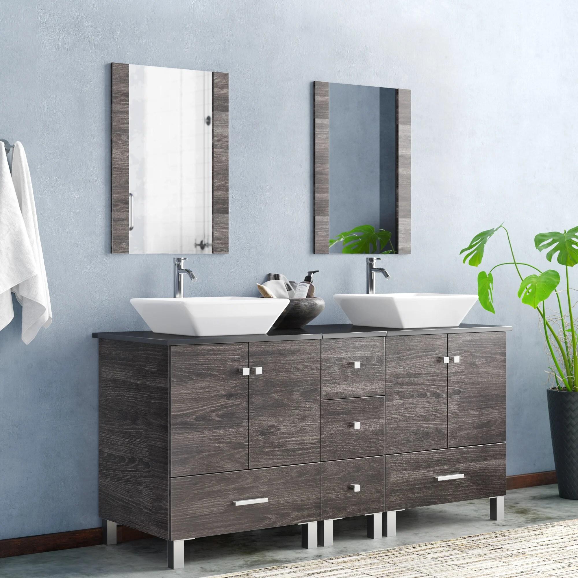 barbonne 60 double bathroom vanity with mirror