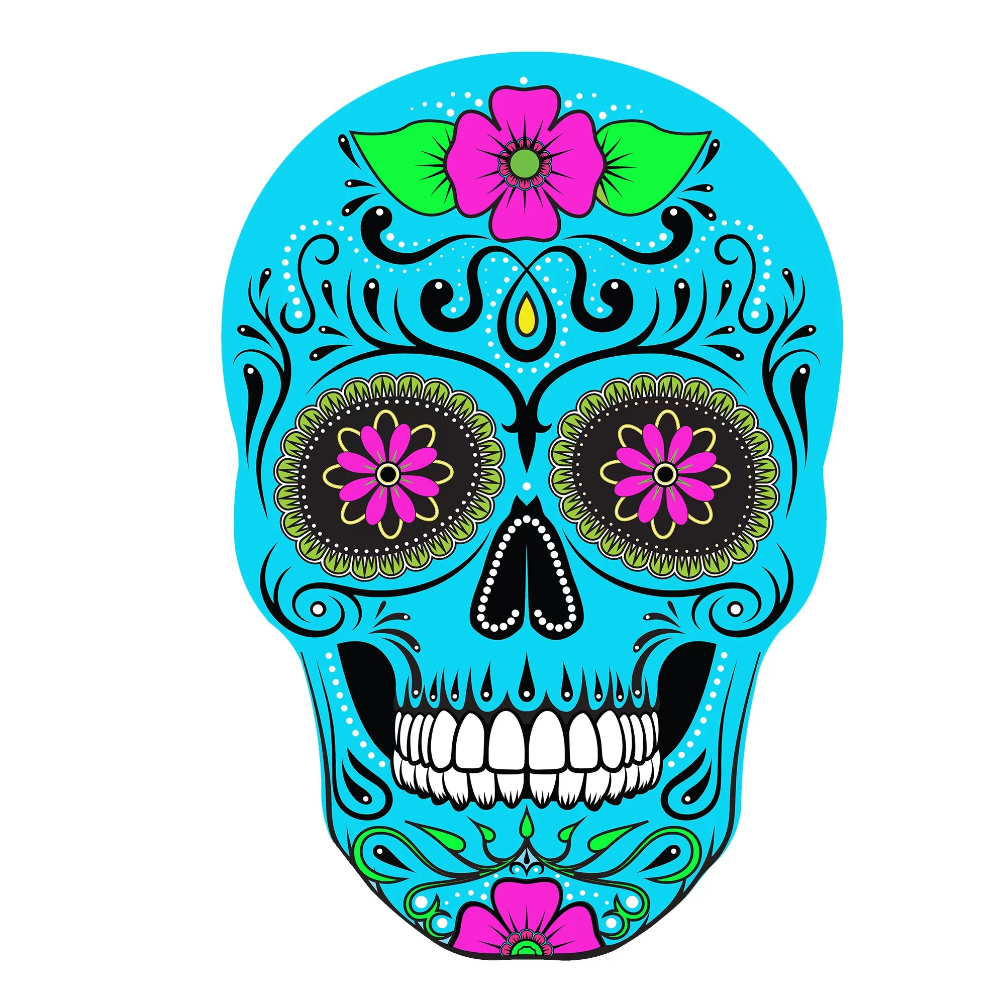 Bloomsbury Market Sugar Skull White Base Wall Decor Reviews Wayfair