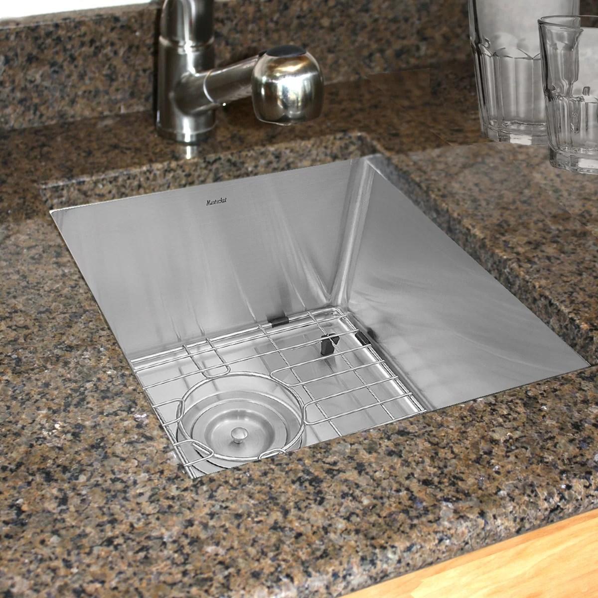 pro series 18 l x 15 w undermount bar prep kitchen sink