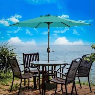 7 5ft patio umbrella outdoor umbrella patio market table umbrella with tilt and crank waterproof sunshade canopy 6 ribs for garden lawn deck