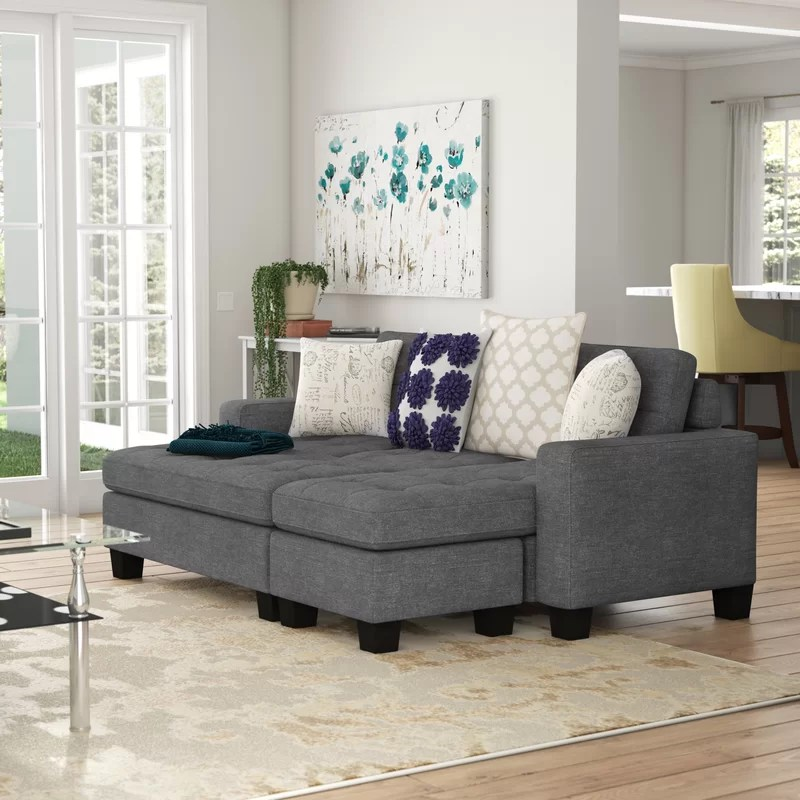 michaud reversible sleeper sectional with ottoman