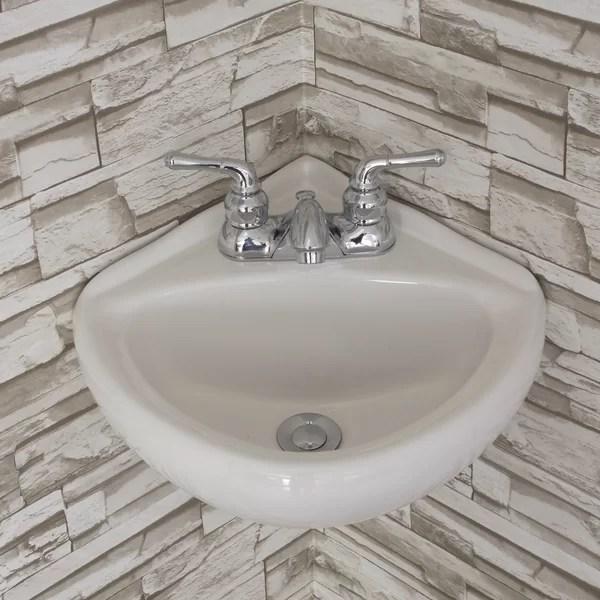 wall mounted corner sink