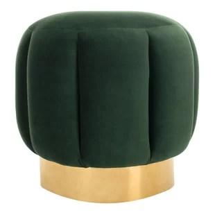 18 9 wide velvet round standard ottoman