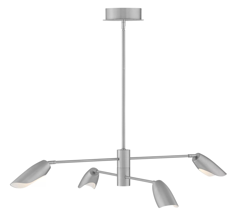 bondy 4 light sputnik modern linear led chandelier