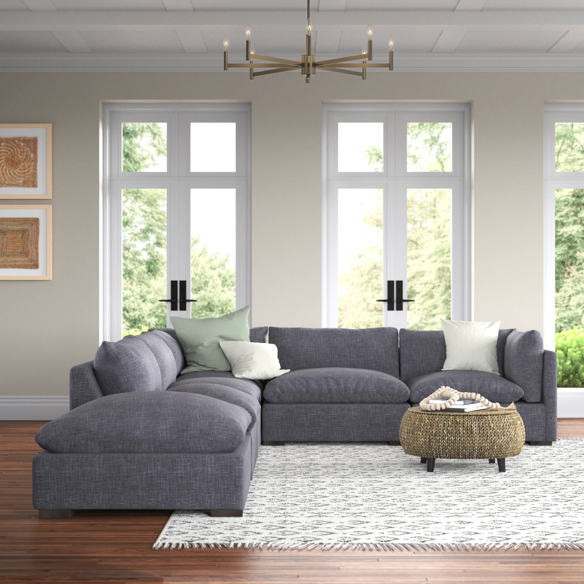 southwold 117 left hand facing sofa and chaise with ottoman