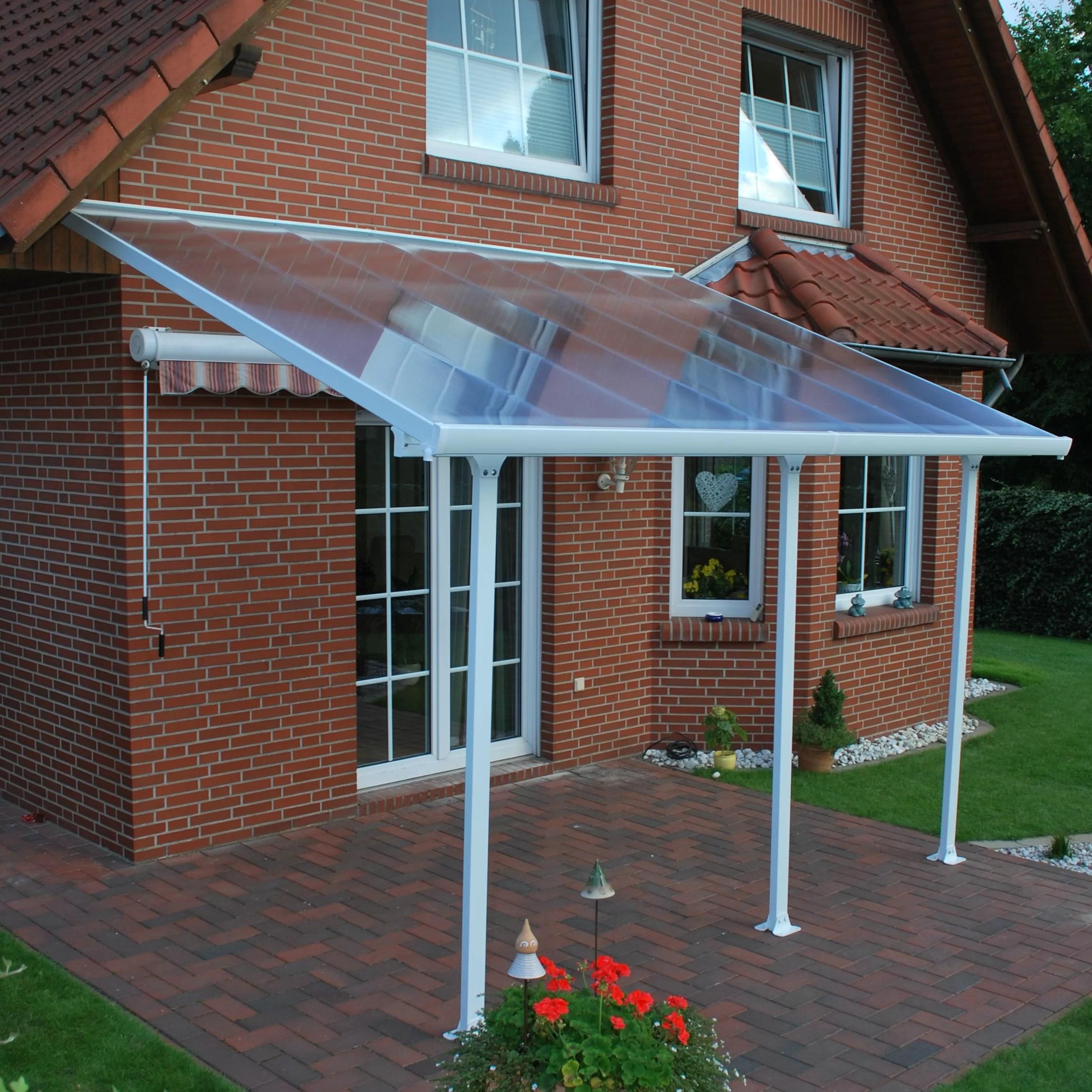 feria 14 ft w x 10 ft d plastic standard patio awning