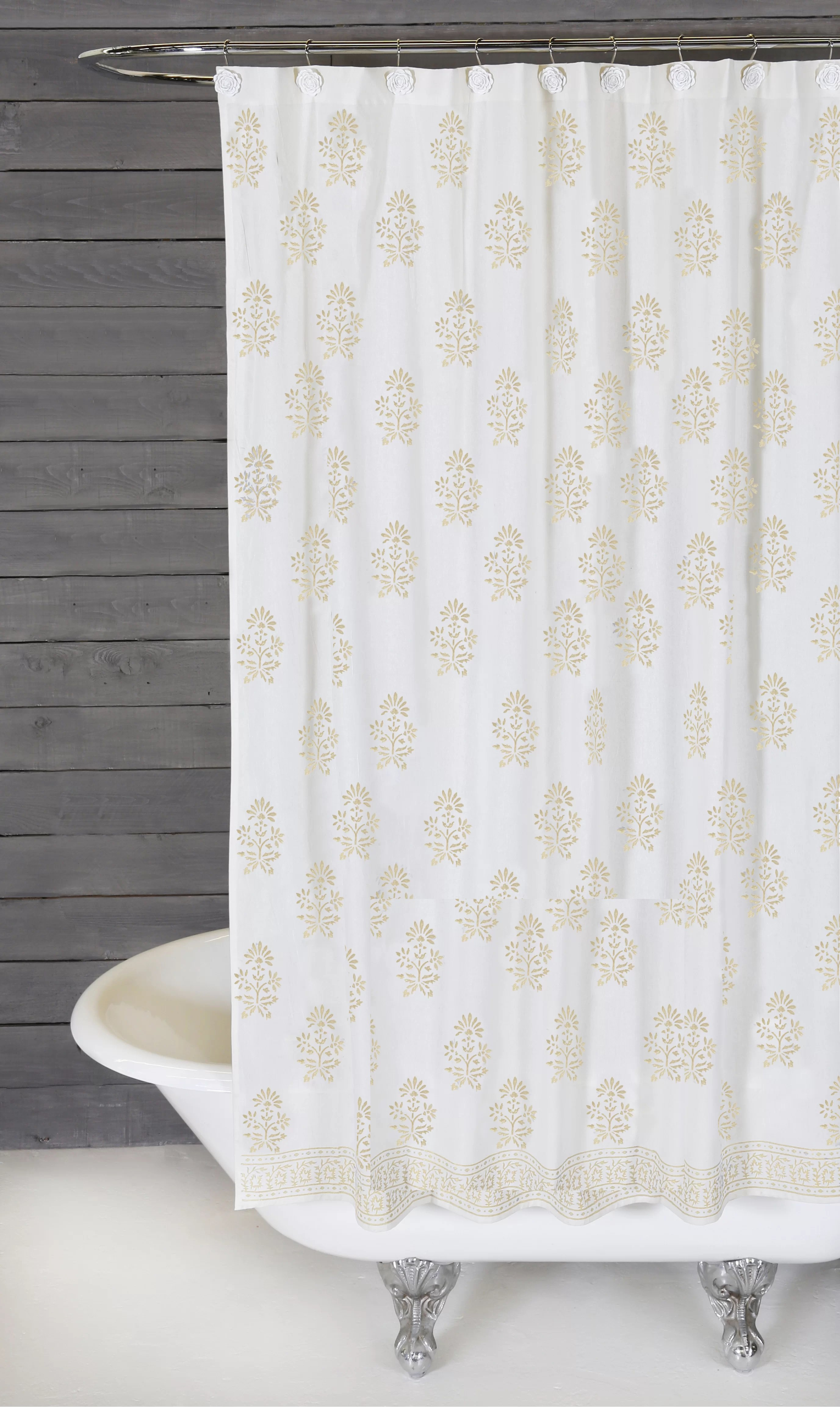 Bahaar Cotton Single Shower Curtain