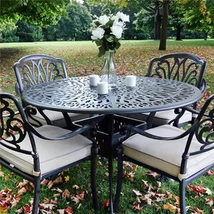 umbrella hole outdoor dining tables