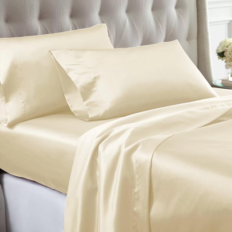 silk satin sheets pillowcases