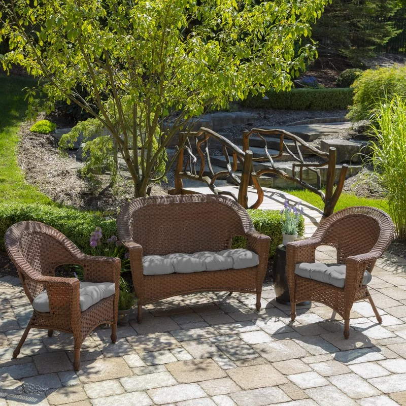 acuna woven outdoor tufted dining chair cushion