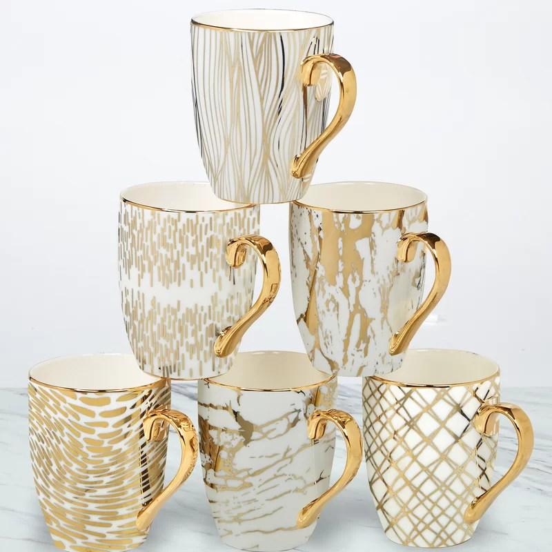 Mcwhorter 6 Piece Coffee Mug Set