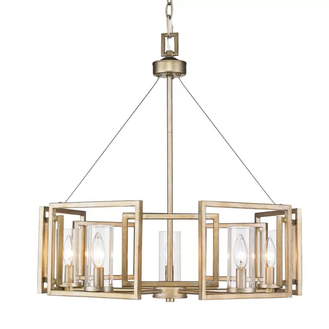 Py 5 Light Candle Style Chandelier
