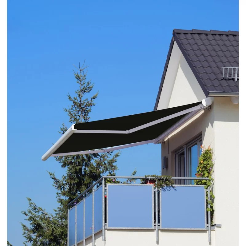 luxury series electric retractable dual wall soffit patio awning