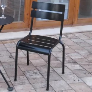 french cafe bistro stacking patio dining chair set of 2