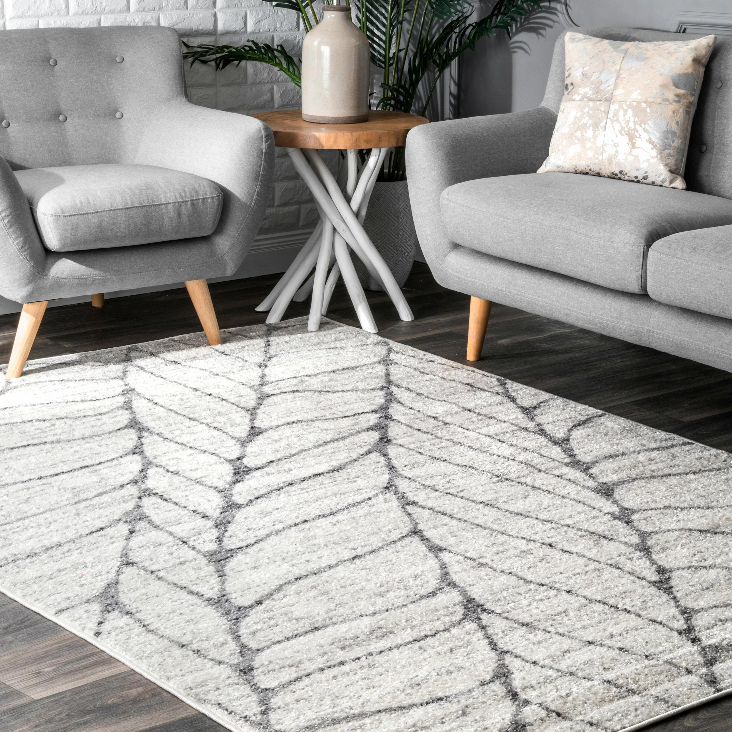 Wrought Studio Sackett Light Grey Area Rug Reviews Wayfair Ca