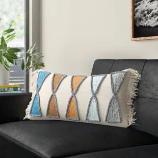 modern orange throw pillows allmodern