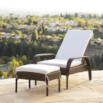 Wade Logan Lisette Patio Chair With Cushion And Ottoman Reviews Wayfair