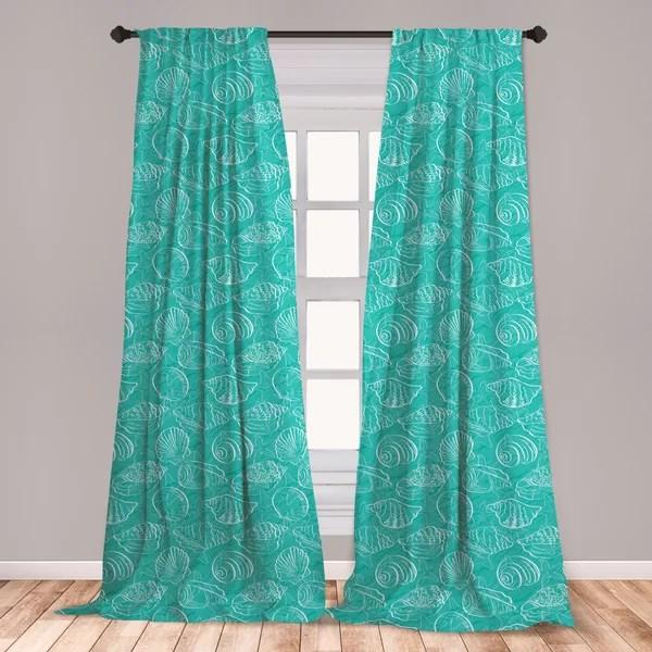 seashell curtains