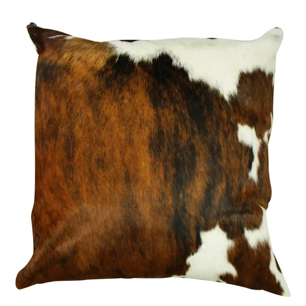 amory authentic cowhide throw pillow cover