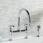 K 6131 3 Cp Sn Kohler Parq Bridge Faucet With Side Spray Reviews Wayfair