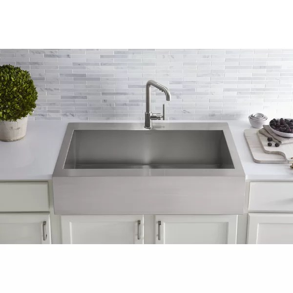 top mount apron front sink