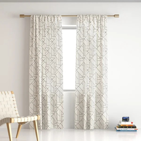 modern contemporary 2 panel curtain sets
