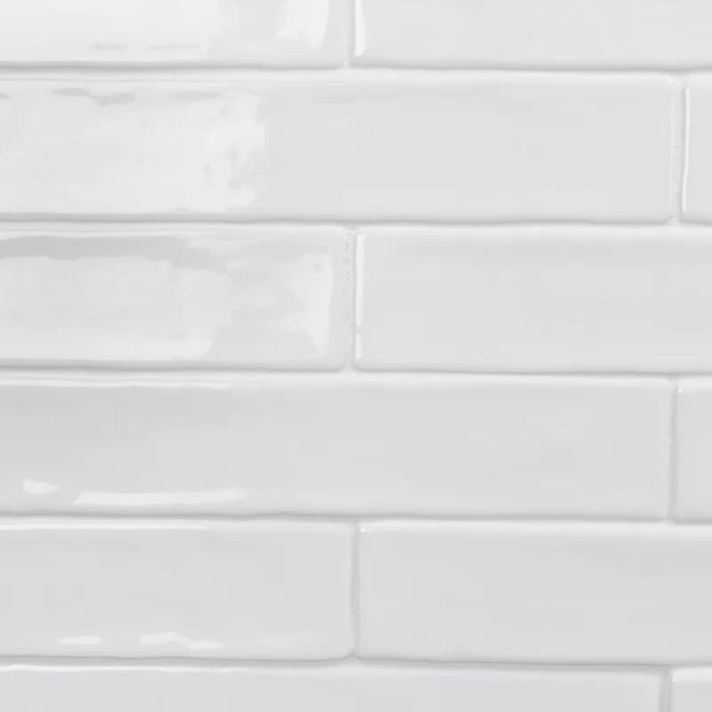 newport polished 2 x 10 ceramic subway tile