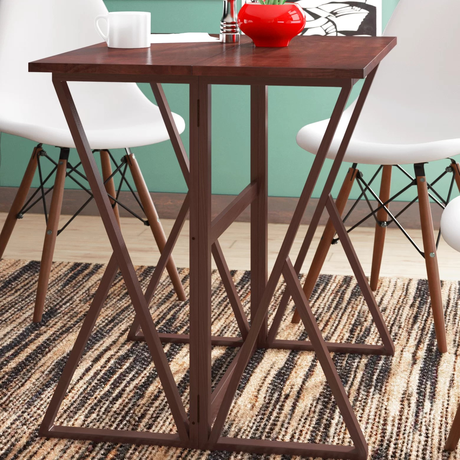 Red Barrel Studio Glaser Counter Height Extendable Dining Table Reviews Wayfair