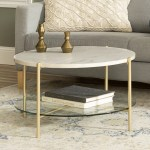 Faux Marble Gold Coffee Tables You Ll Love In 2020 Wayfair