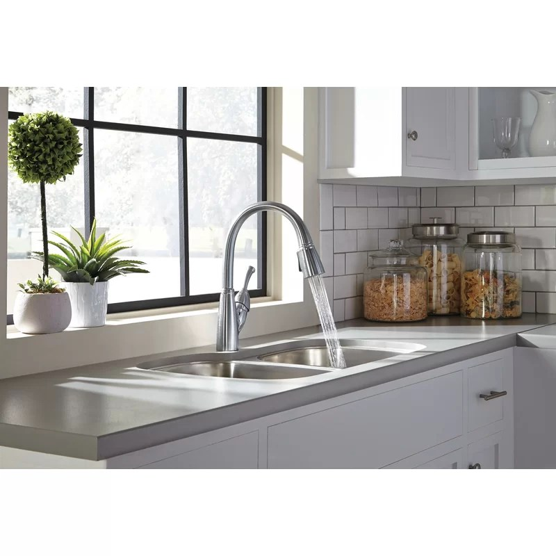 allora pull down touch single handle kitchen faucet with magnatite and diamond seal technology
