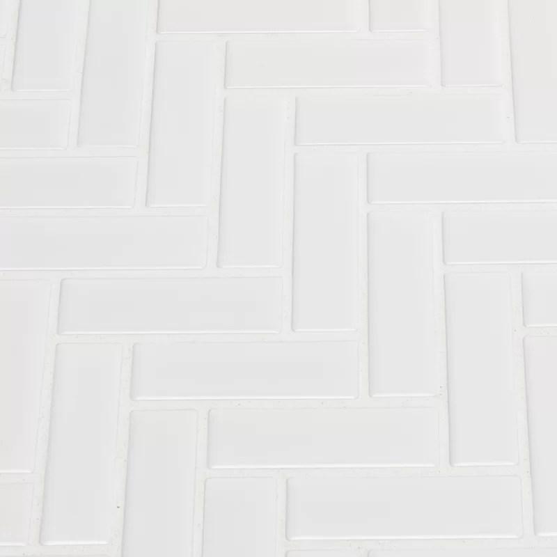 domino 1 x 3 porcelain herringbone mosaic wall floor tile