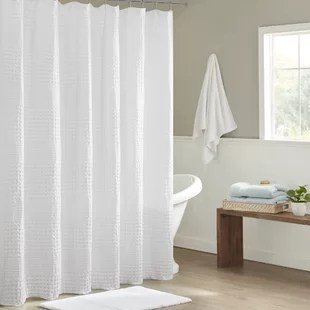 sonia cotton solid single shower curtain