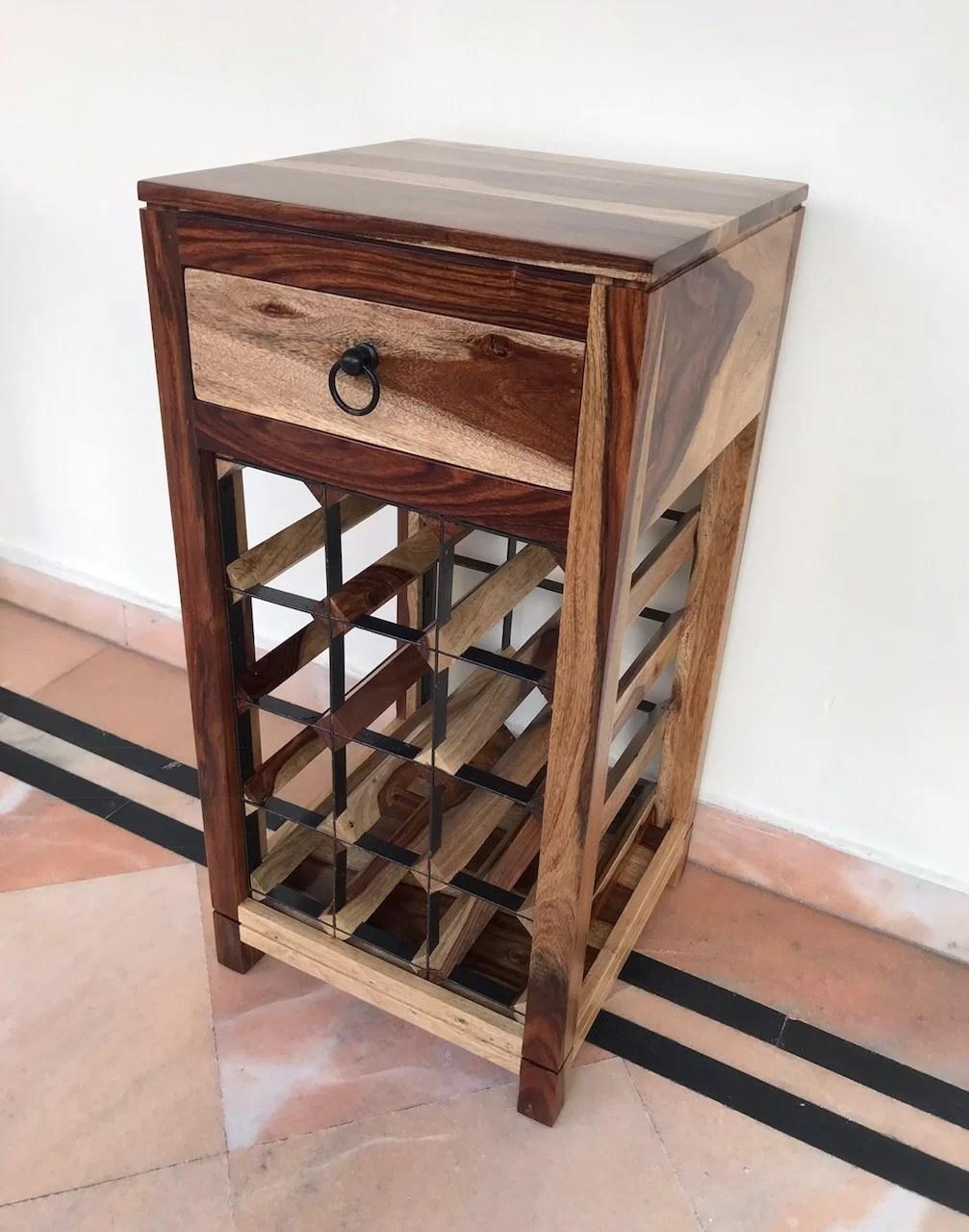 traci bar with wine storage