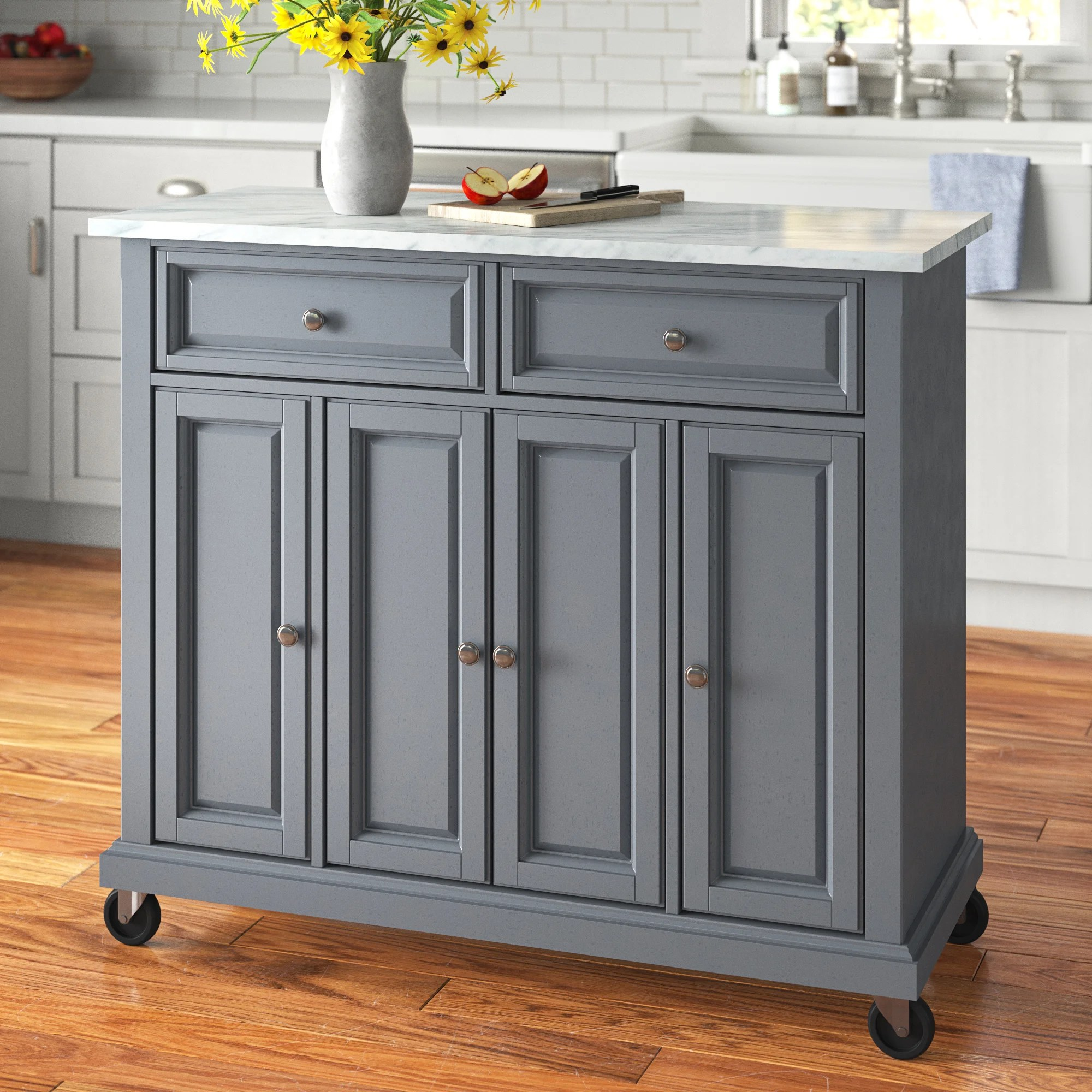 Narrow Kitchen Islands Carts Wayfair