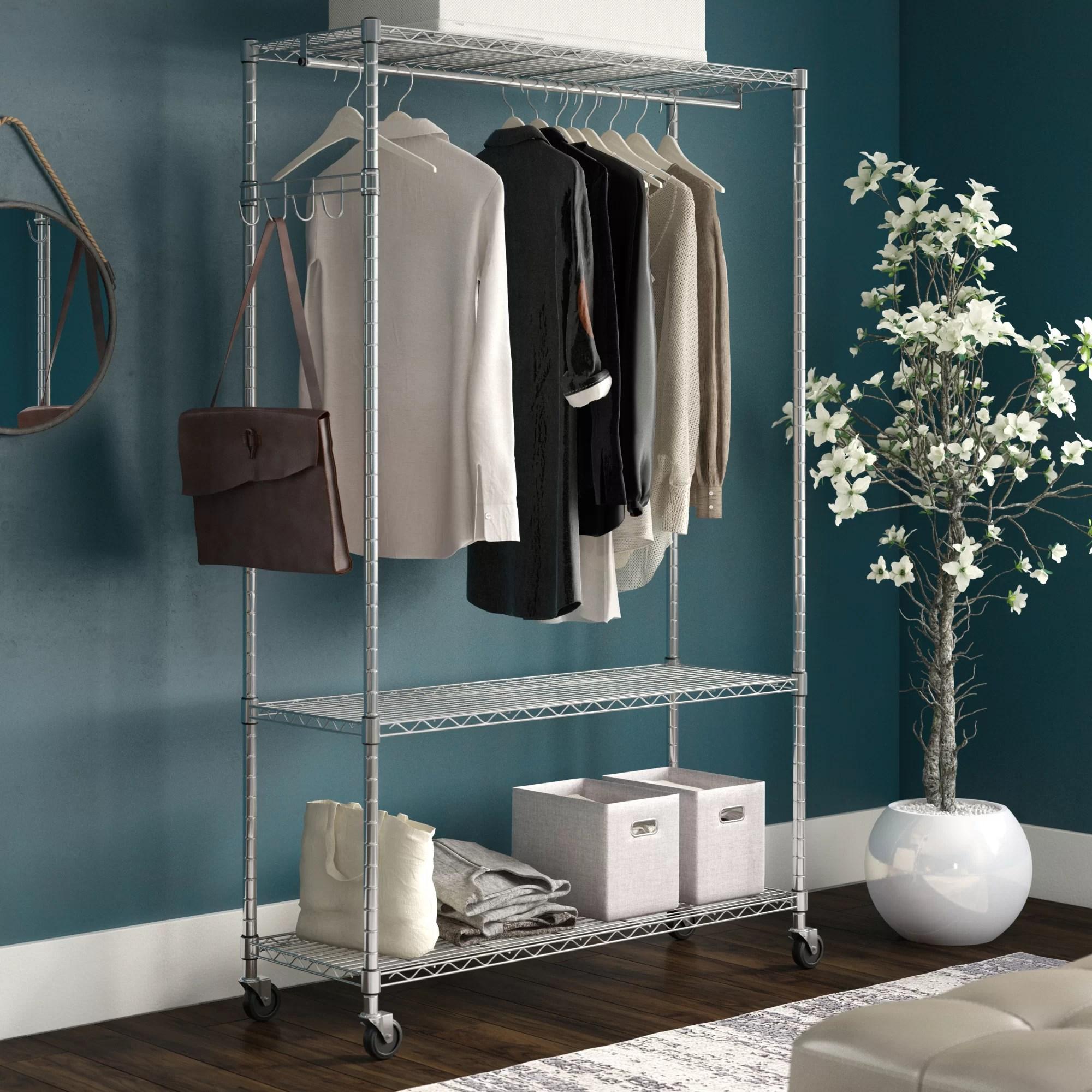 clothes racks garment wardrobes wayfair