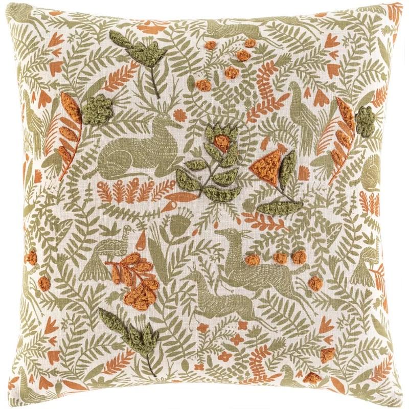 astromeritis cotton floral throw pillow cover