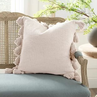 interlude luxurious square cotton pillow cover and insert