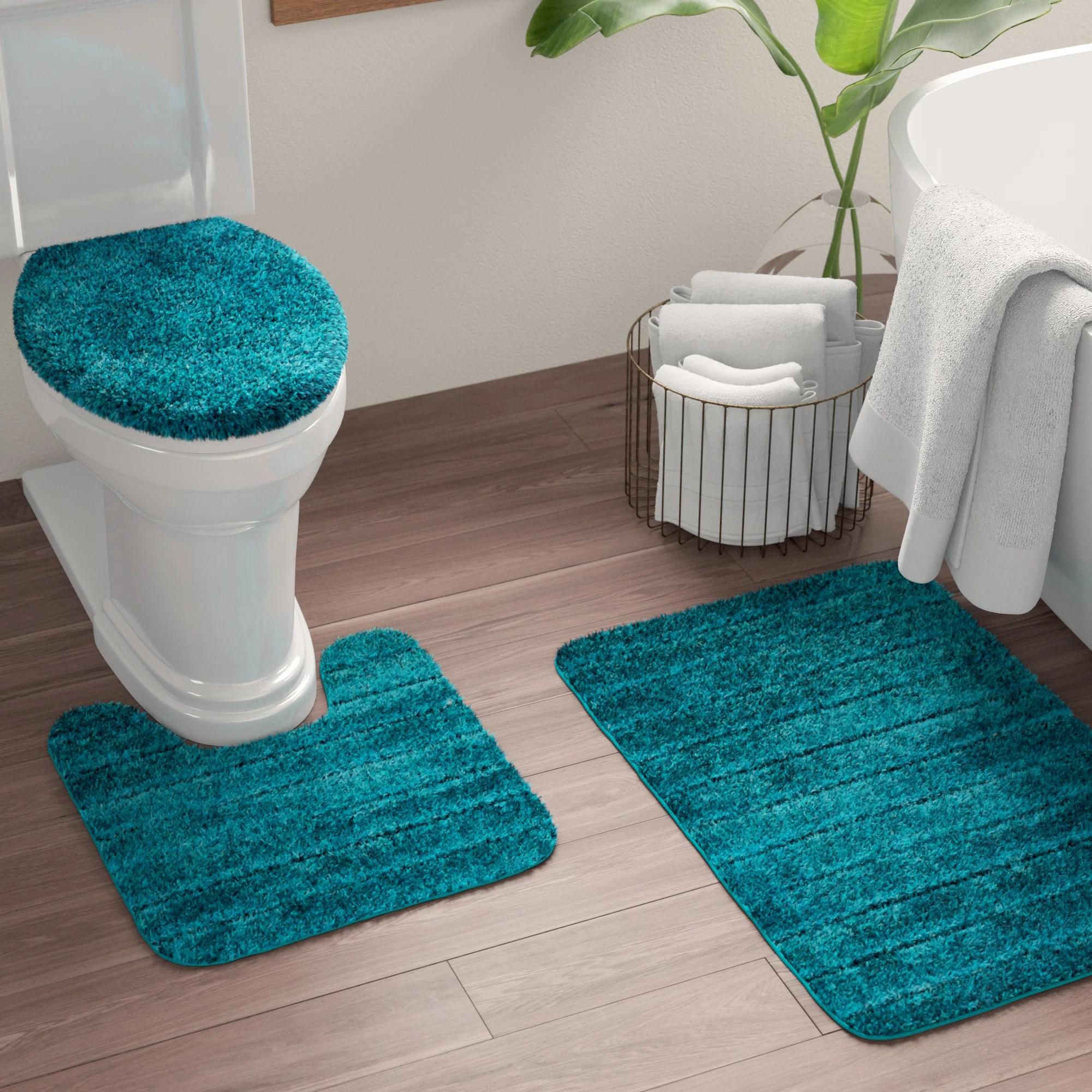 Colorful Bathroom Bath Rugs Mats You Ll Love In 2020 Wayfair