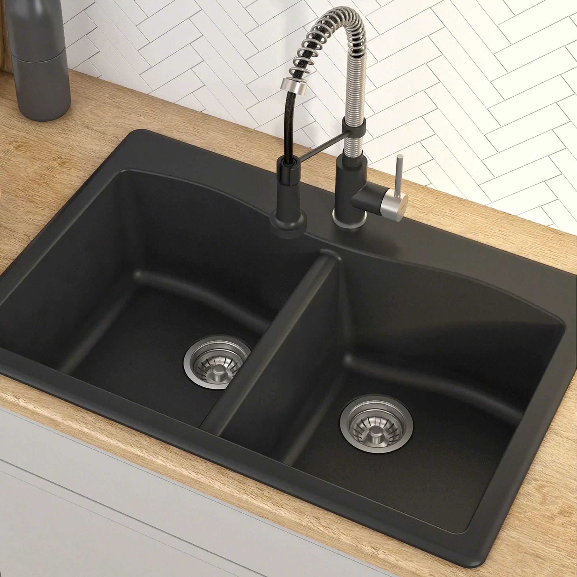 forteza 33 l x 22 w double basin drop in kitchen sink
