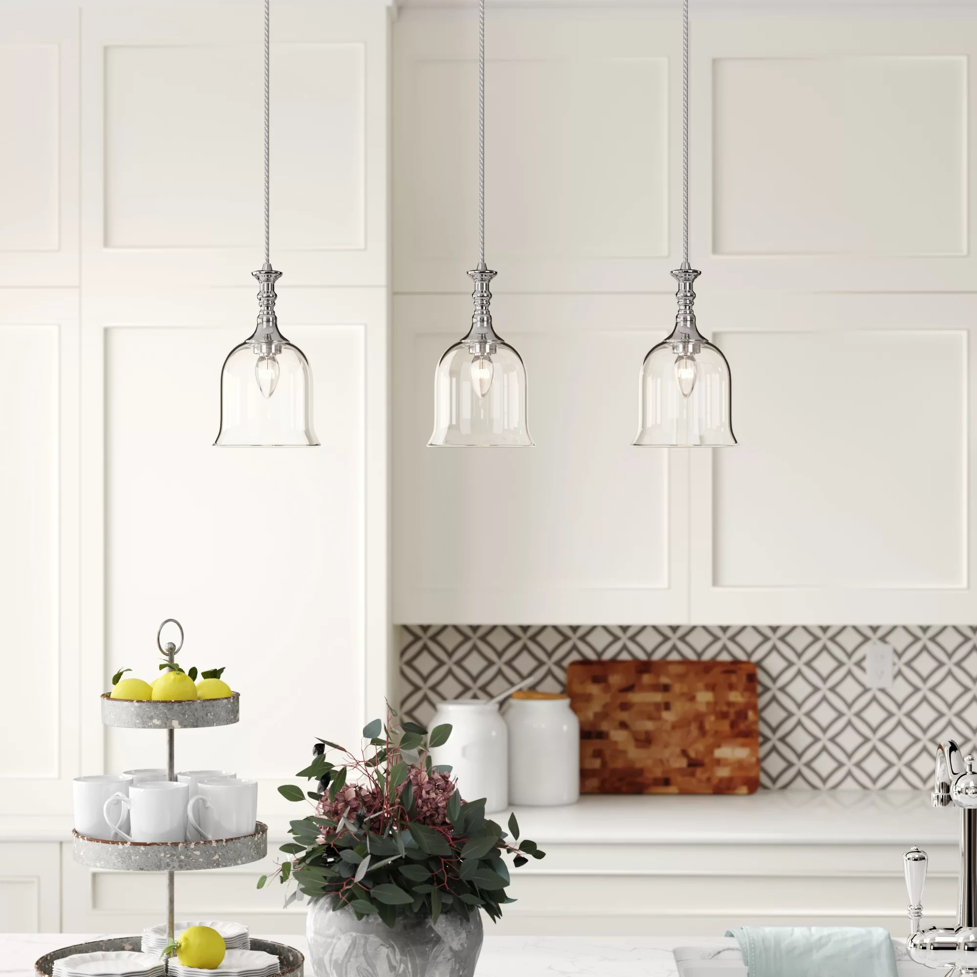 Hadley 3 Light Kitchen Island Pendant Reviews Birch Lane