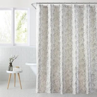 mila floral single shower curtain