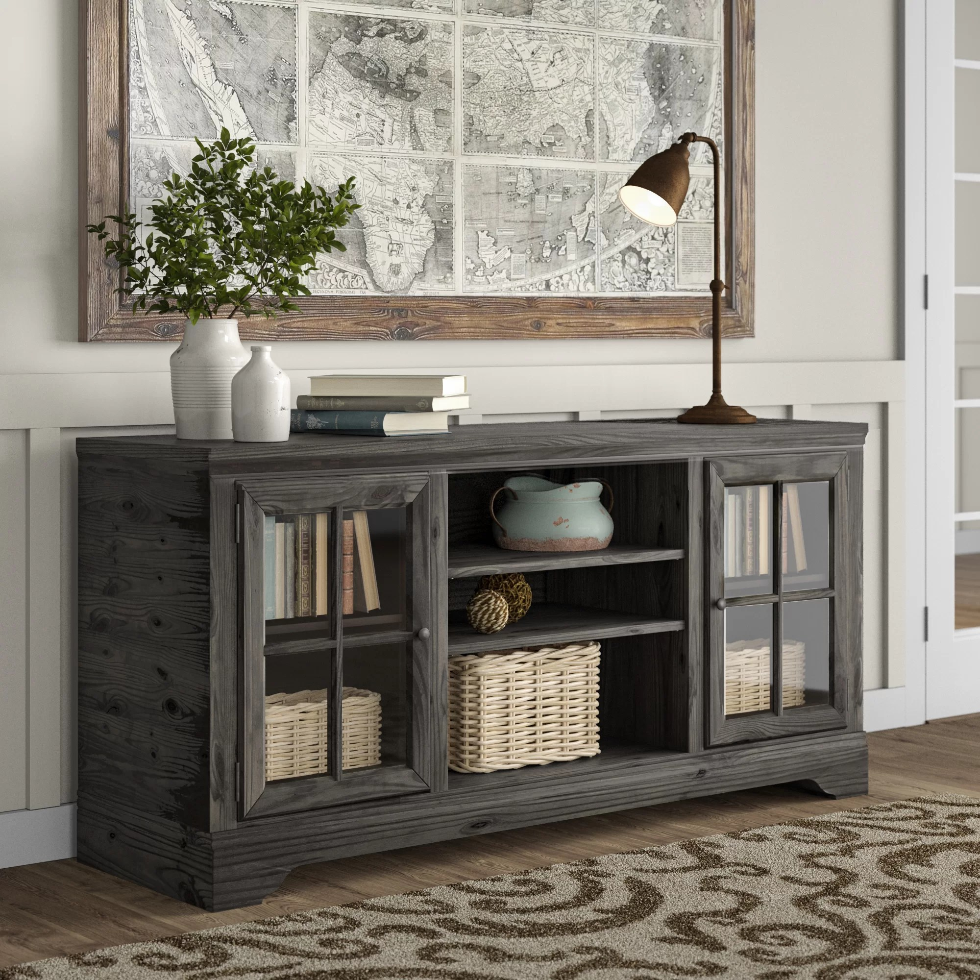 Delmon Tv Stand For Tvs Up To 75 Inches Reviews Birch Lane