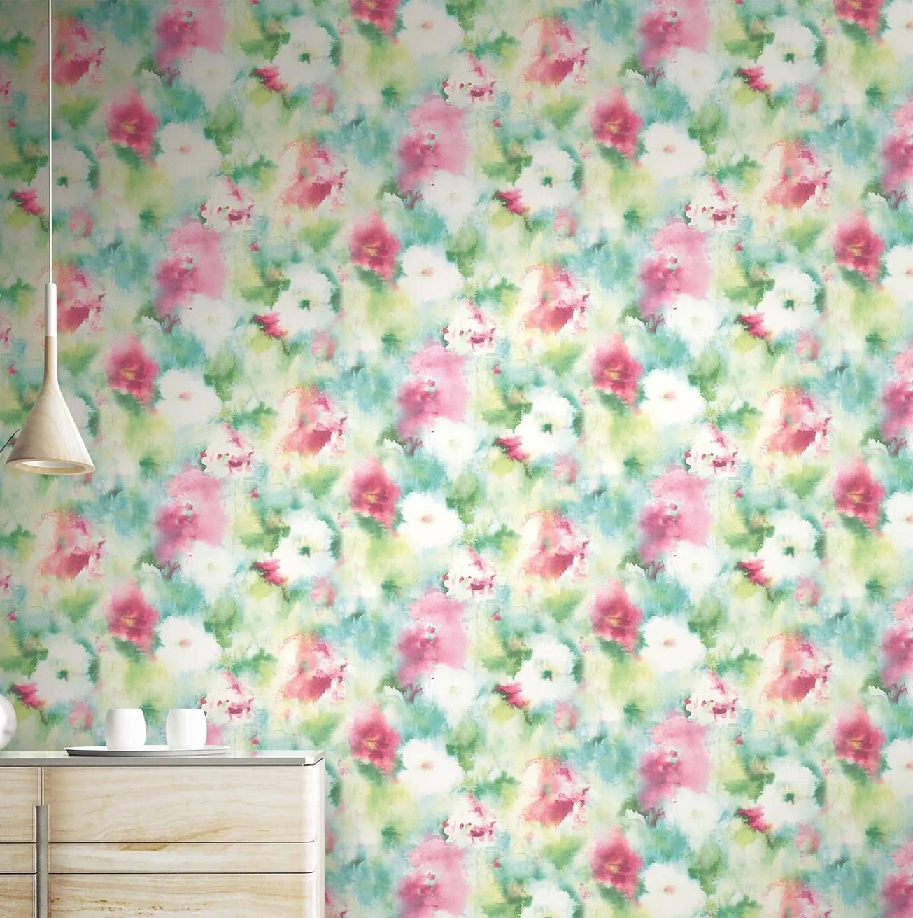 Wrought Studio Lyndsey Abstract Floral 33 L X 20 5 W Wallpaper Roll Wayfair