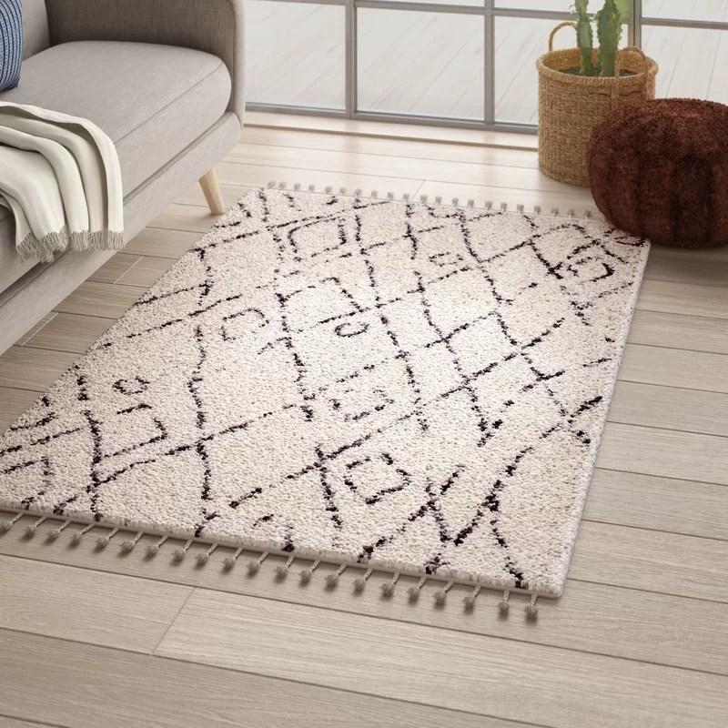 Mistana Borendy Geometric Off White Area Rug Reviews Wayfair